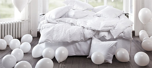 Bed met ballonnen