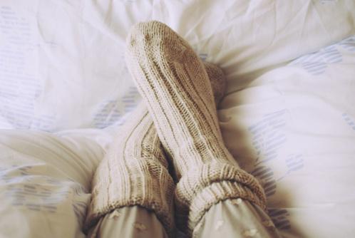 Sokken in bed